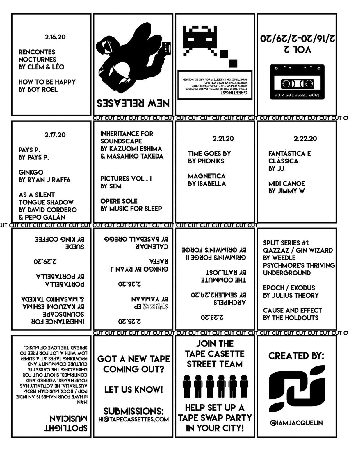 Tape Cassettes Zine Vol 2